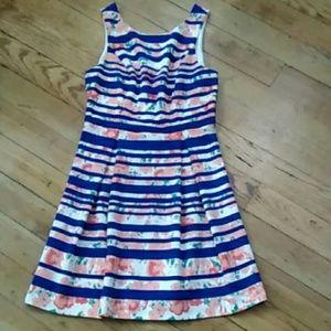 Pre-owned Pixley Sleeveless Print Summer Dress